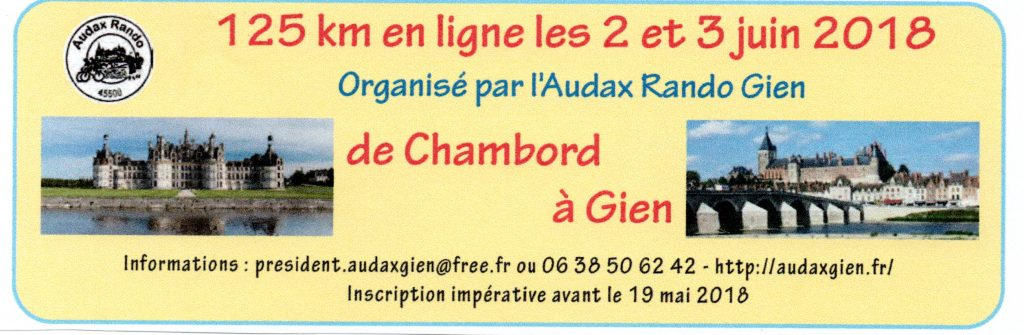 125 km de Chambord à Gien