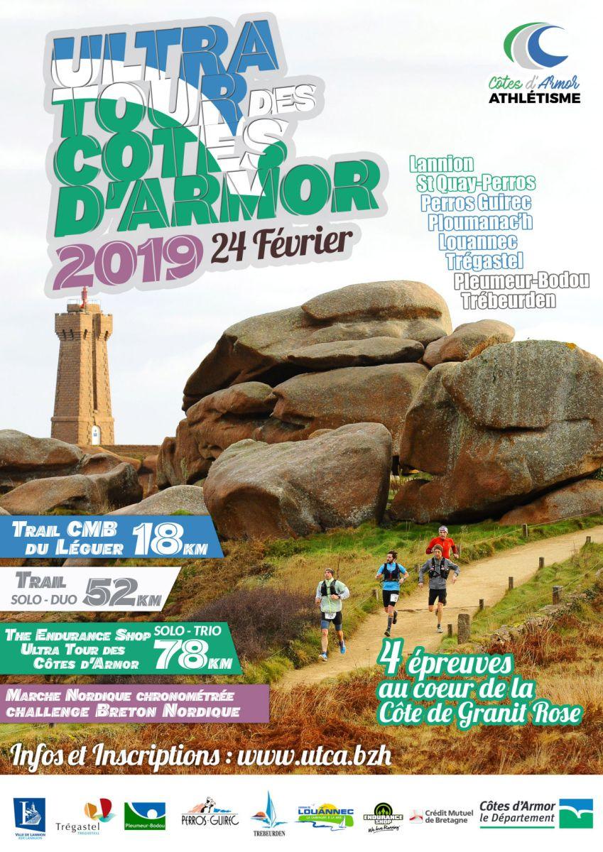 Ultra Tour des Côtes d'Armor : Dimanche 24 février 2019