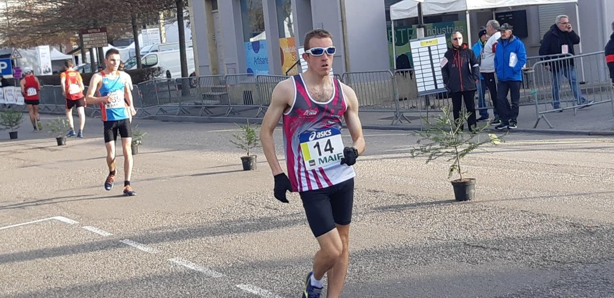 Florian Mayer conserve son titre sur le 50 Kms marche à Epinal