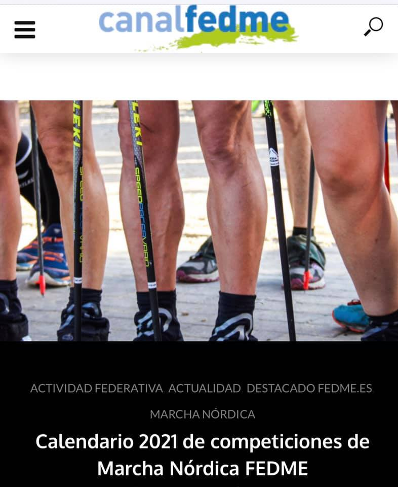 Calendrier 2021 des compétitions de Marche nordique FEDME | Le